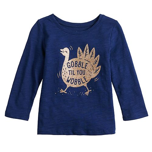 Baby Girl Jumping Beans® Thanksgiving Graphic Tee