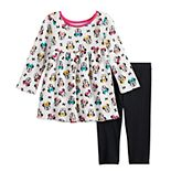 Disney's Minnie Mouse Baby Girl Babydoll Top & Leggings Set by Jumping Beans®