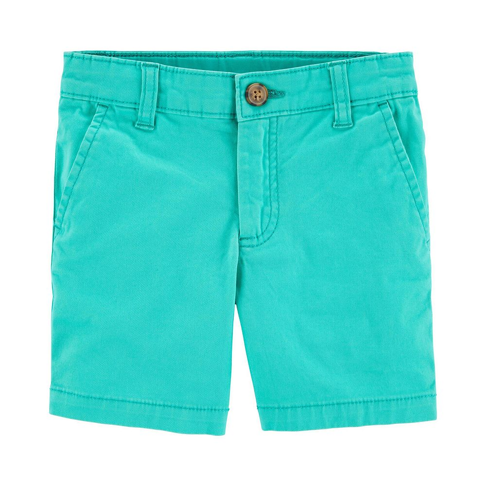 Baby Boy Carter's Turquoise Flat-Front Shorts