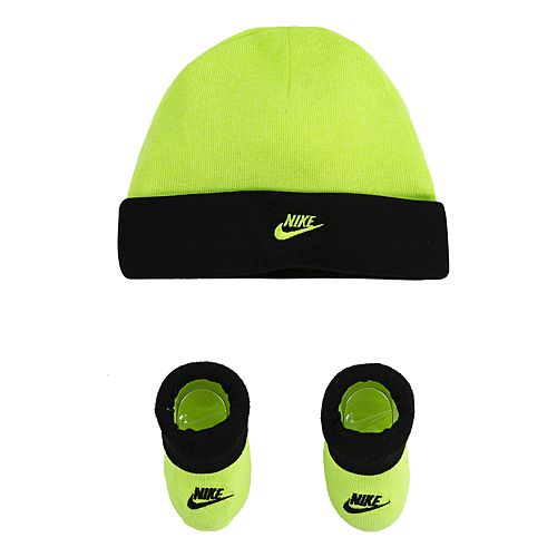 Baby Boy Nike Beanie & Booties Set