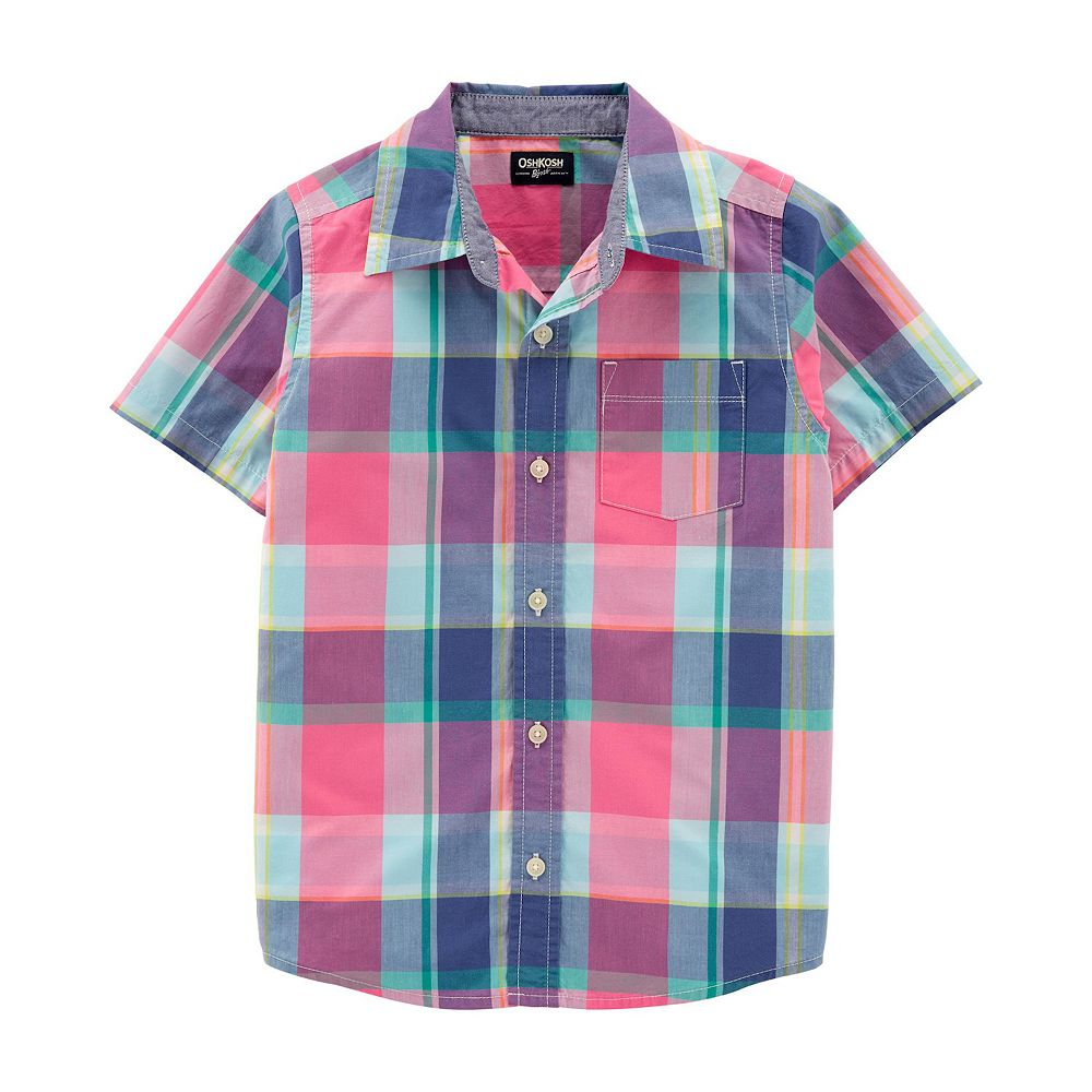 Boys 4-14 OshKosh B'gosh® Plaid Button-Front Shirt