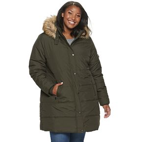 Juniors' Maralyn & Me Channel Quilt Puffer Jacket