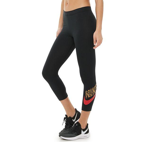 Women S Nike Club Animal Print Crop Leggings
