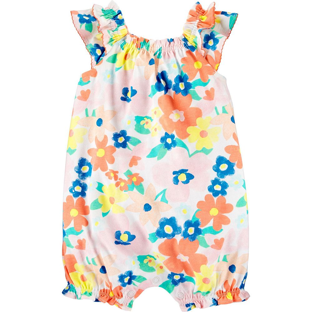 Baby Girl Carter's Floral Bubble Romper