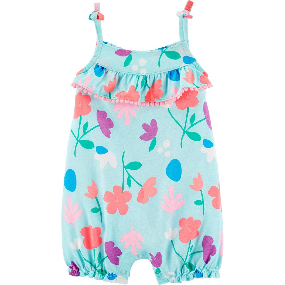 Baby Girl Carter's Floral Tank Jersey Romper
