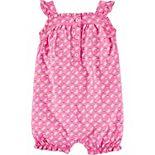 Baby Girl Carter's Butterfly Tank Jersey Romper
