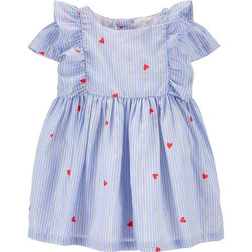 Baby Girl OshKosh B'gosh® Ruffle Heart Print Dress