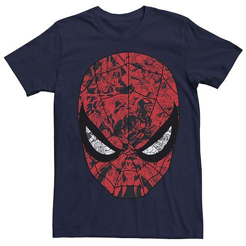 Men's Marvel Spider-Man Mask Graphic Tee