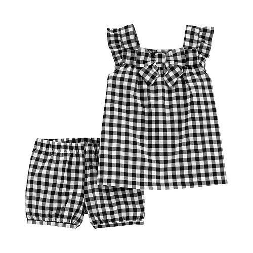 Toddler Girl Carter's 2-Piece Gingham Tank & Short Set