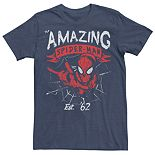 Men's Marvel Spider-Man Est. 62 Vintage Portrait Tee