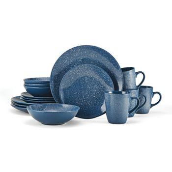 Pfaltzgraff Blue Speckle Harrington 16 Pc Dinnerware Set Kohls