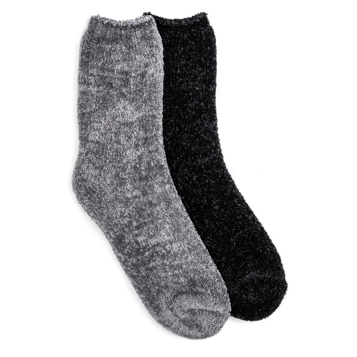 MUK LUKS® Women's (2-Pair Pack) Chenille Boot Socks Pink Black Pack V5UyD