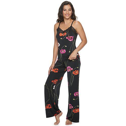 Women's Josie By Natori Bardot Sleep Camisole And Pajama Pants Set by Josie