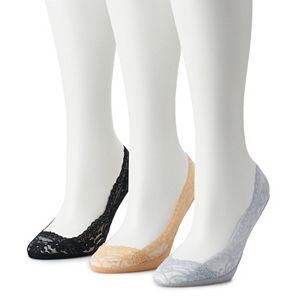 Women's Low-Cut Lace Liner Socks