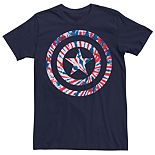 Men's Marvel Captain America Tie Dye Shield Logo Tee