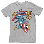 Men's Marvel Captain America Halloween Pumpkins Tee