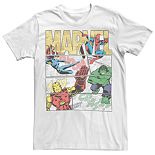 Men's Marvel Comic Hero Fill Poster Tee