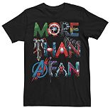Men's Marvel More Than A Fan Avenger Letter Fill Graphic Tee