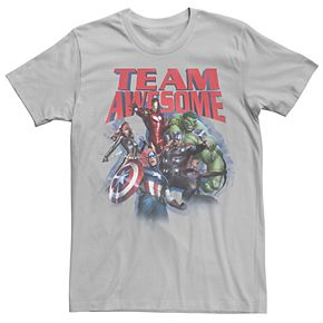 Men's Marvel Avengers Team Awesome Group Shot Graphic Tee