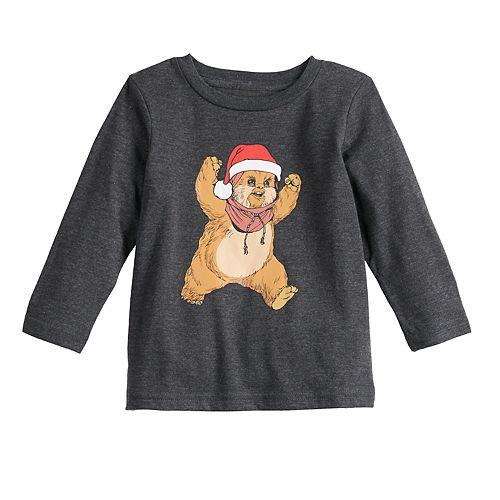 Baby Family Fun Star Wars Ewok Christmas Graphic Tee