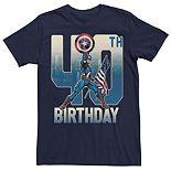 Men's Marvel Captain America 40th Birthday Tee