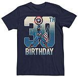 Men's Marvel Captain America 30th Birthday Tee