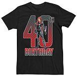 Men's Marvel Black Widow 40th Birthday Tee
