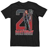 Men's Marvel Black Widow 21st Birthday Tee