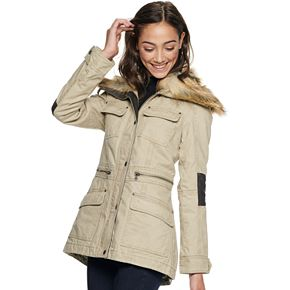 Juniors' BNCI Removable Fur Anorak Jacket