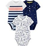 Baby Neutral Carter's 3-Pack Fish Rompers
