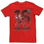 Men's Iron Man 16th Birthday Tee