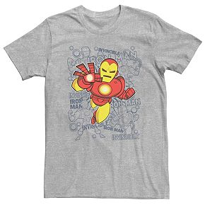 Men's Marvel Retro Iron Man Doodle Tee