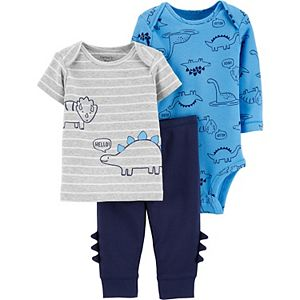 Baby Boy Carter's 3-Piece Dinosaurs Character Set
