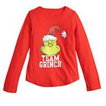 Girls 7-16 Family Fun The Grinch Christmas Graphic Tee