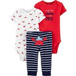 Baby Boy Carter's 3-Piece Crab Little Character Set