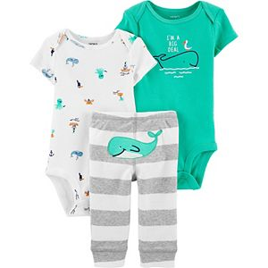 Baby Boy Carter's 3-Piece Whale Little Character Set