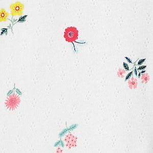 Baby Girl Carter's Floral Pointelle Sleep & Play