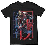 Men's Marvel's Spider-Man And Iron Man Action Tee