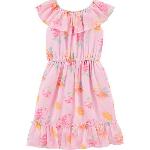 Girls 4-12 OshKosh B'gosh® Floral Ruffle Dress
