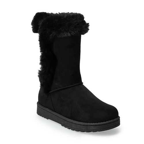 SO® Abigail Women's Faux-Fur Winter Boots