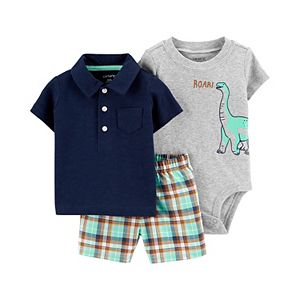 Baby Boy Carter's 3-Piece Polo, Bodysuit Little Shorts Set