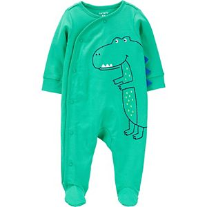 Baby Boy Carter's Embroidered Dinosaur Snap Sleep & Play