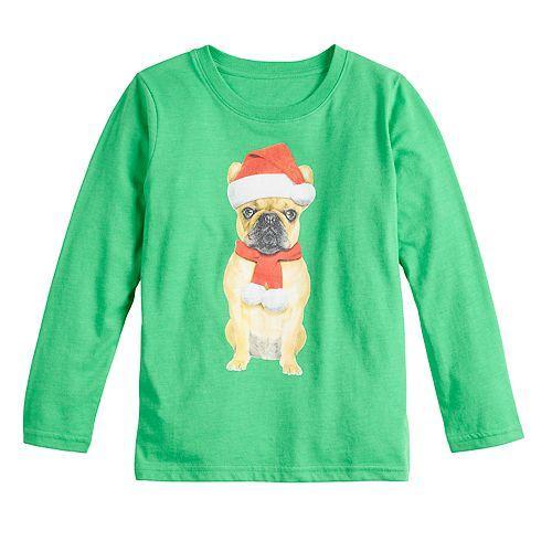 Boys 4-7 Family Fun™ Pug Christmas Graphic Tee