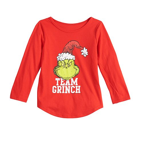 Toddler Girl Family Fun™ The Grinch Christmas Graphic Tee