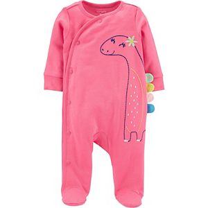 Baby Girl Carter's Dinosaur Snap Sleep & Play