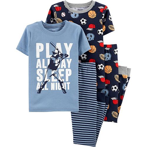 Boys 4-12 Carter's 4-Piece Sports Snug Fit Pajama Set