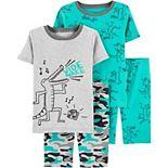 Boys 4-7 Carter's 4-Piece Snug Fit Cotton Pajamas