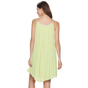 Women's Nina Leonard Embellished Gauze Trapeze Dress
