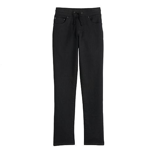 Boys 6-20 Lazer Pull-On Knit Denim Jeans