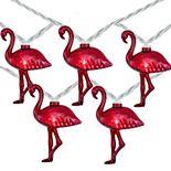 10-Light Pink Flamingo String Lights